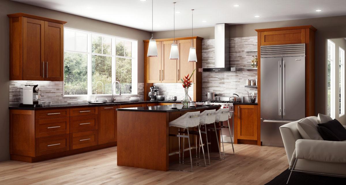 Cnc Cabinetry Concord Elegant Nutmeg Kitchen Cabinets Tiles Nj