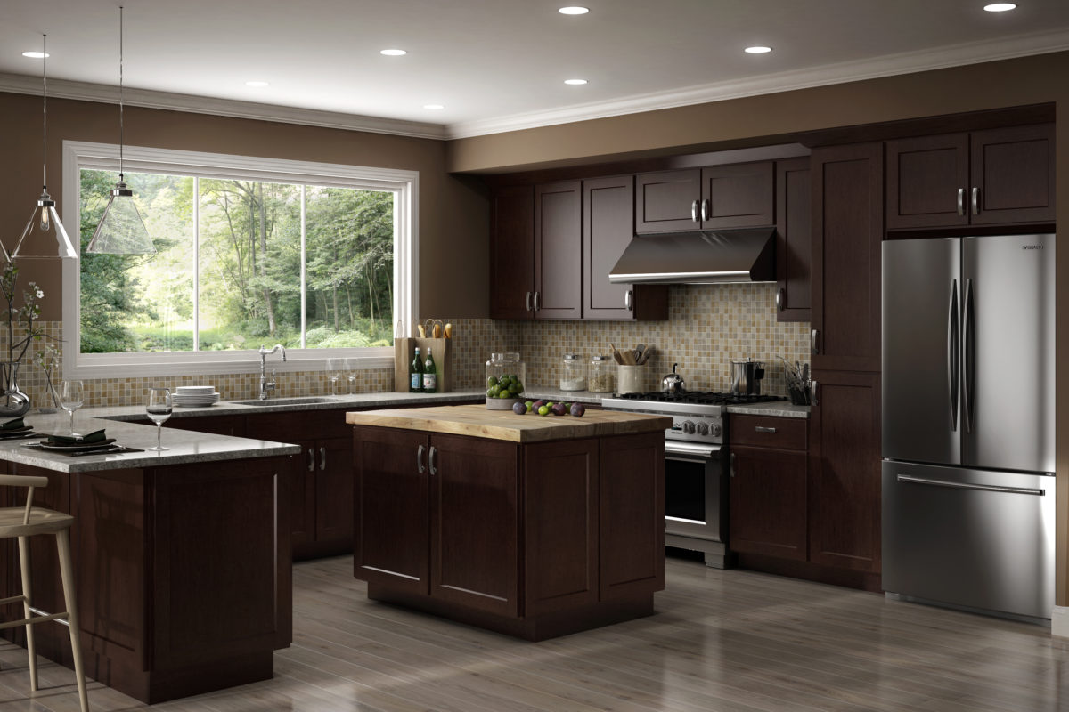 Cnc Cabinetry Country Luxor Espresso Kitchen Cabinets Tiles Nj Art Of Kitchen Tile