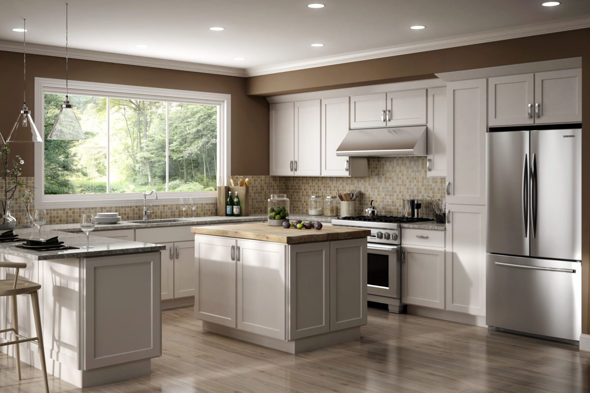 Cnc Cabinetry Country Luxor White Kitchen Cabinets Tiles Nj