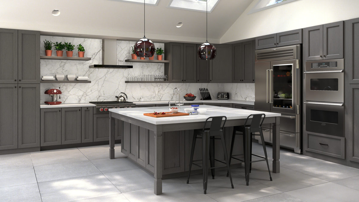 Forevermark Midtown Grey Kitchen Cabinets Tiles Nj Art Of Kitchen Tile