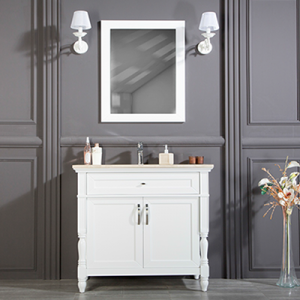"ARIZONA 30"" WHITE BATHROOM VANITY"