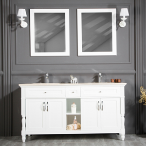 "ARIZONA 60"" WHITE BATHROOM VANITY"