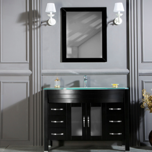 "AWIS 42"" BLACK BATHROOM VANITY"