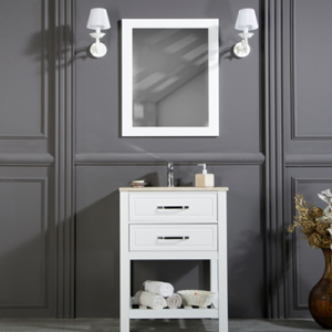 "FAWIO 24"" WHITE BATHROOM VANITY"