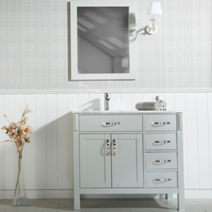 "FAWNA 30"" WHITE BATHROOM VANITY"