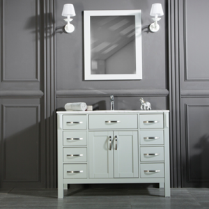 "FAWNA 42"" WHITE BATHROOM VANITY"