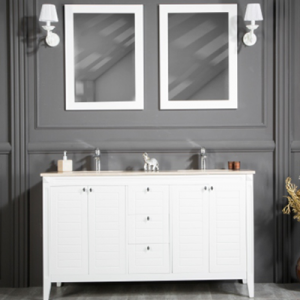 "HEAVEN 60"" WHITE BATHROOM VANITY"