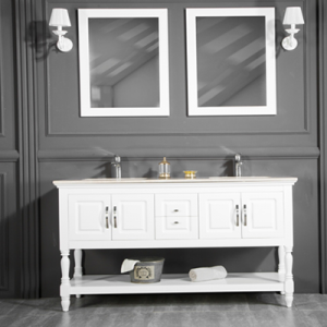 "LOS ANGELES 60"" WHITE BATHROOM VANITY"