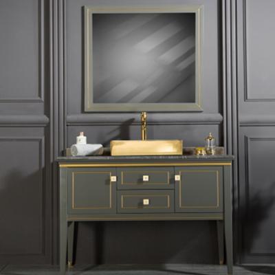Manhattan 48 Quot Anthracite Gold Bathroom Vanity Kitchen