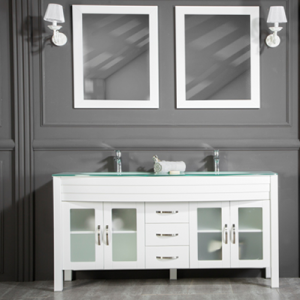 "AWIS 60"" WHITE BATHROOM VANITY"