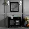 "AWIS 24"" BLACK BATHROOM VANITY"