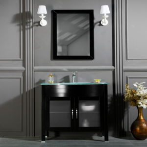 "AWIS 30"" BLACK BATHROOM VANITY"