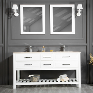 "FAWIO 72"" WHITE BATHROOM VANITY"