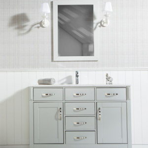 "FAWNA 56"" LIGHT GRAY BATHROOM VANITY"