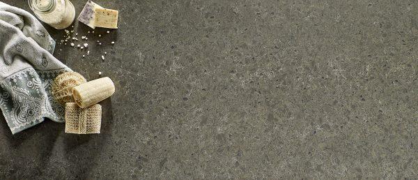 Babylon Gray Concrete Quartz Countertop