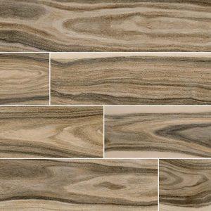 Dellano Deep Bark Porcelain Wood Look Tile