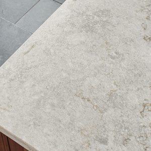 Gray Lagoon Quartz Countertop Kitchen Cabinets Amp Tiles