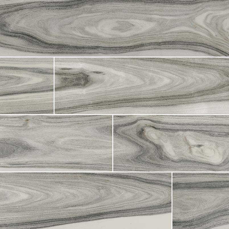Moss Gray Dellano Porcelain Wood Look Tile Kitchen Cabinets