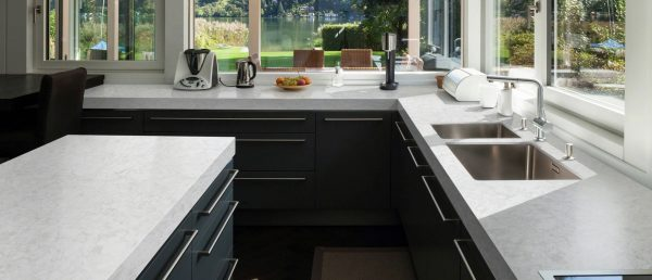 Pelican White Quartz Countertop