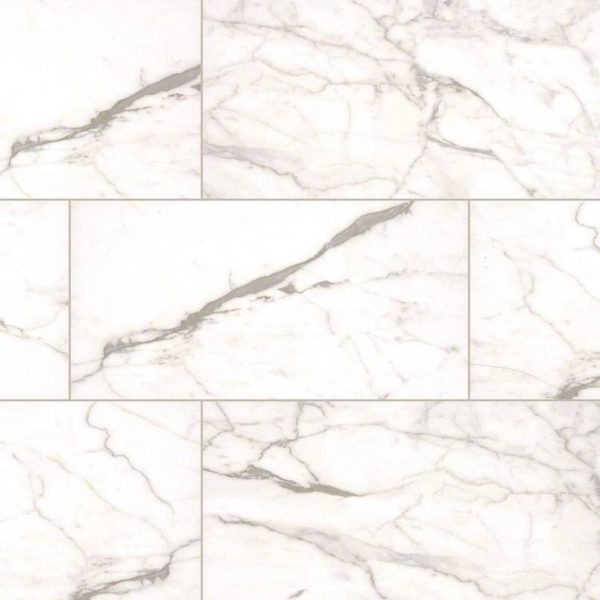 White Vena Essentials Ceramic Tile