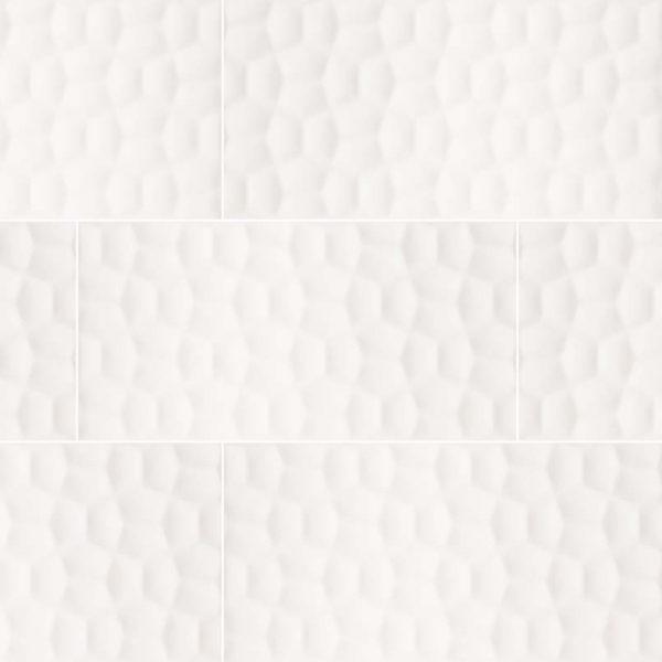 Adella Viso White 12x24 Satin