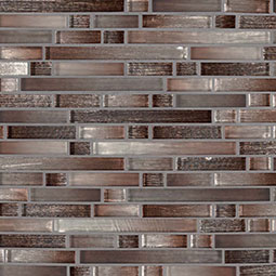 Akaya Copper Interlocking 8mm Glass Tile