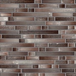 Akaya Copper Interlocking 8mm Glass Backsplash Tile