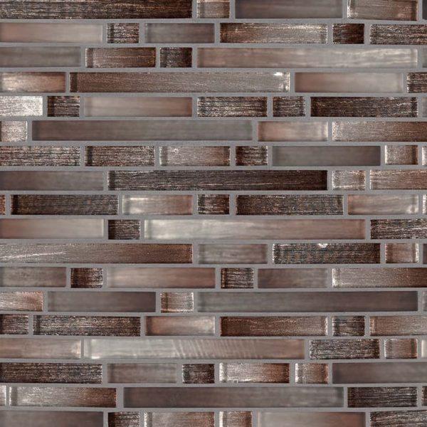 Akaya Copper Interlocking 8mm Glass Backsplash Tile