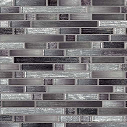 Akaya Nero Interlocking 8mm Glass Tile