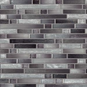 Akaya Nero Interlocking 8mm Glass Backsplash Tile