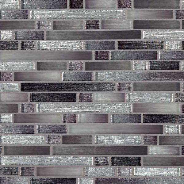 Akaya Nero Interlocking 8mm Glass Backsplash Tile