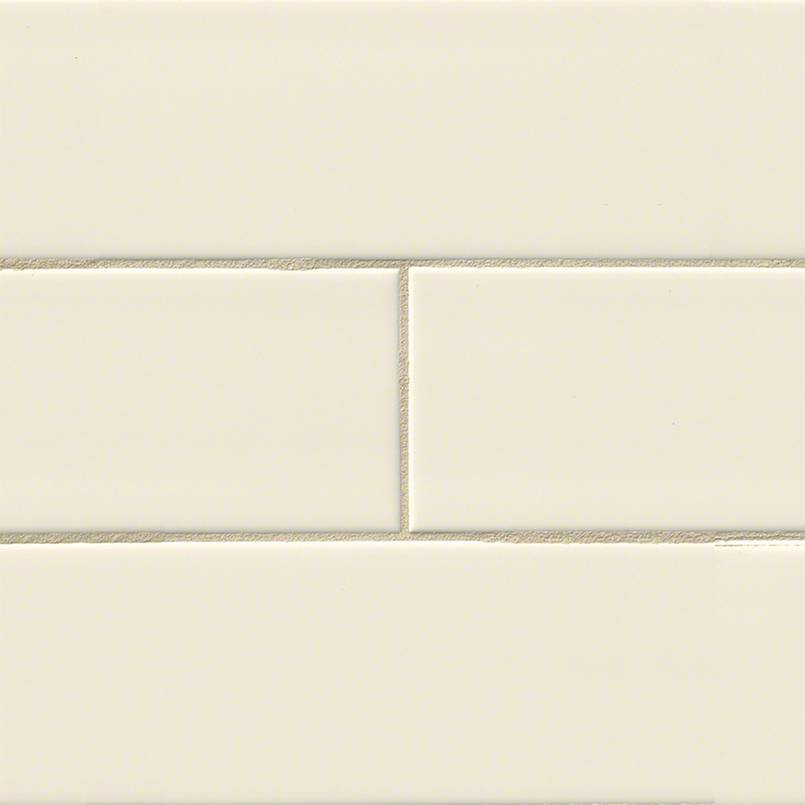 Almond Glossy 4x16 Subway Tile Kitchen Cabinets Amp Tiles