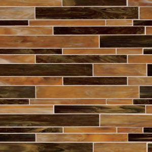 Ambrosia Interlocking Pattern 4mm Glass Backsplash Tile