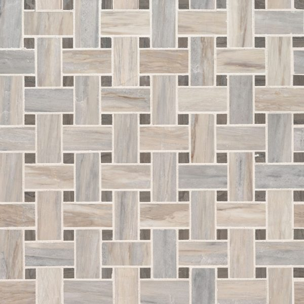 Angora Basketweave Polished Backsplash Tile