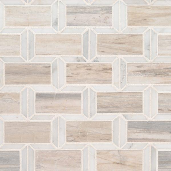 Angora Framework Polished Subway Tile Backsplash