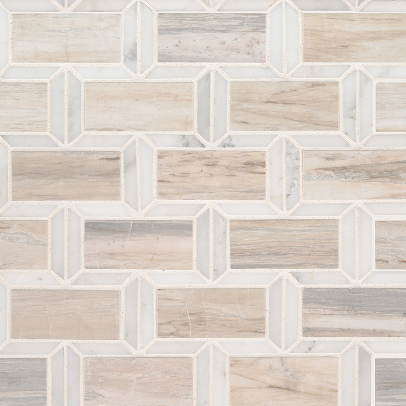 Angora Framework Polished Subway Tile Backsplash Kitchen
