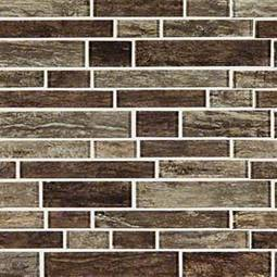 Antico Pewter Interlocking Pattern 8mm Glass Tile