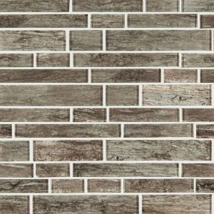 Antico Silversmith Interlocking Pattern 8mm Glass Backsplash Tile
