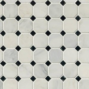 Arabescato Cararra Octagon Backsplash Tile