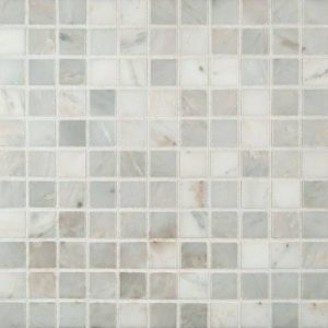 Arabescato Carrara 1x1 Honed in 12x12 Mesh