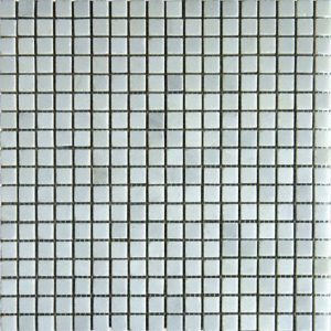 Arabescato Carrara 5/8x5/8 Honed in 12x12 Mesh