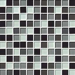 BLACK BLEND GLASS 1X1X8MM  Glass Tile