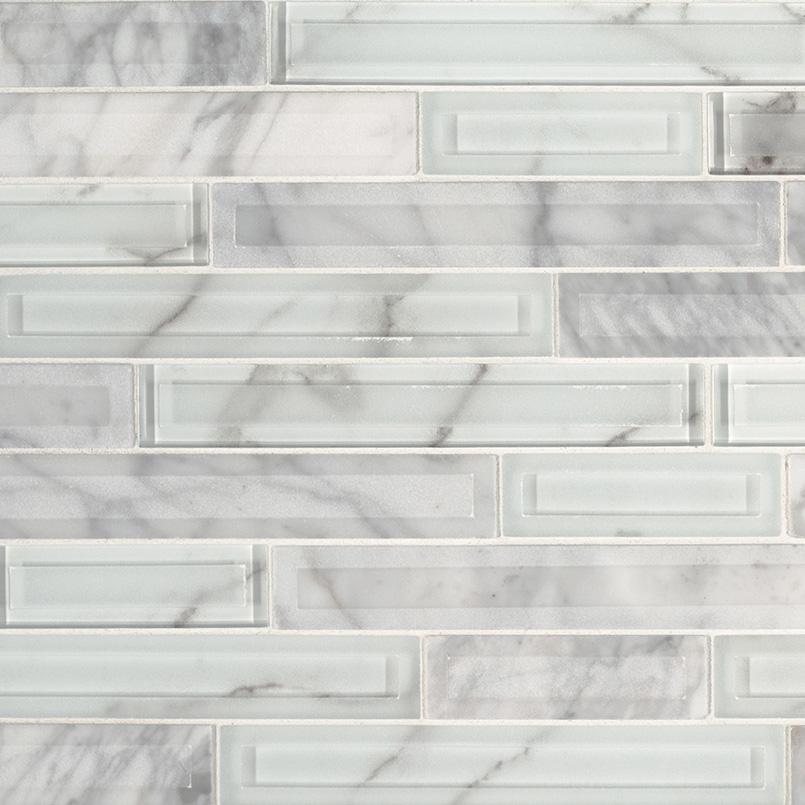 Blocki Blanco Interlocking Pattern 8mm Kitchen Cabinets