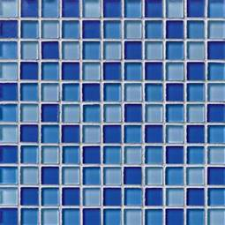 BLUE BLEND GLASS 1X1X8MM Glass Tile