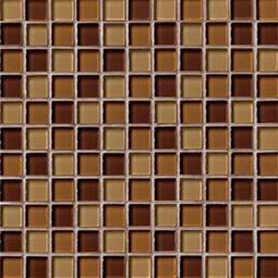 BROWN BLEND GLASS 1X1X8MM Glass Tile