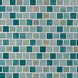 Carribean Jade 1x1x4mm Staggered  Glass Tile