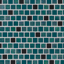 Carribean Mermaid 1x1x4mm Staggered  Glass Tile