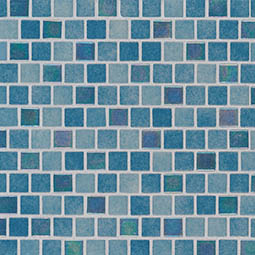 Carribean Reef 1x1x4mm Staggered  Glass Tile