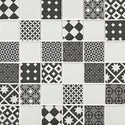 Checkorama 2x2x4mm Glass Backsplash Tile
