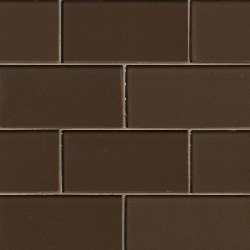 Cinnamon Glass Subway Backsplash Tile 3x6 Kitchen